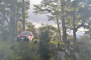 The 4x4 resting in the campfire smoke...!